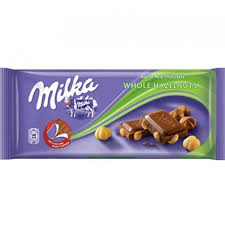 MILKA WHOLE HAZELNUT 100G delivery