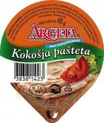 ARGETA KOKOSIJA PASTETA 45G delivery