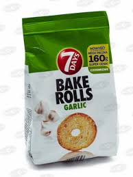 BAKE ROLLS GARLIC 160G delivery