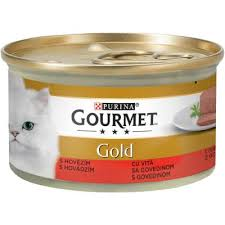 GOURMET GOLD CAT GOVEDINA KONZ.85GR. delivery