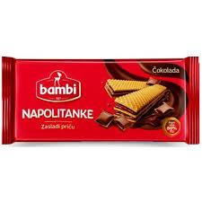Napolitanke čokolada 185gr. -  Vafel proizvod - Bambi delivery