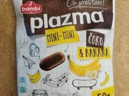 Plazma Mini mini čoko i banana keks preliven čokoladom 50gr. delivery