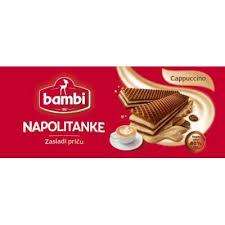 BAMBI NAPOLITANKE CAPPUCCINO 185GR. - VAFEL PROIZVOD delivery