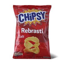 CHIPSY Rebrasti slani 90g dostava